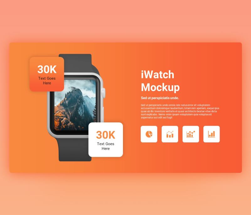 I Watch Mockup PowerPoint Slide Template