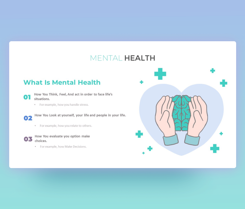 Free Mental Health PowerPoint Template