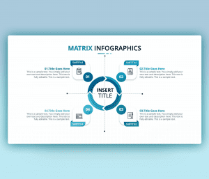 Matrix Infographics PowerPoint Slide PPT