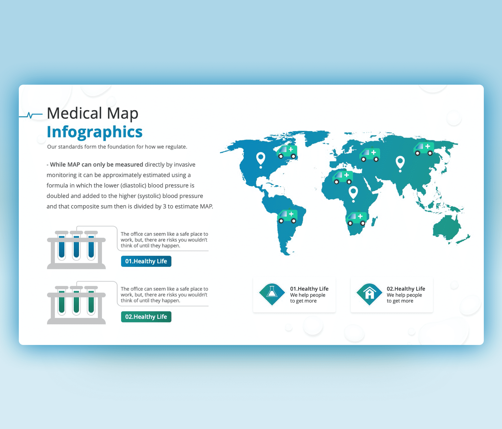 Medical Map Infographic PowerPoint Template