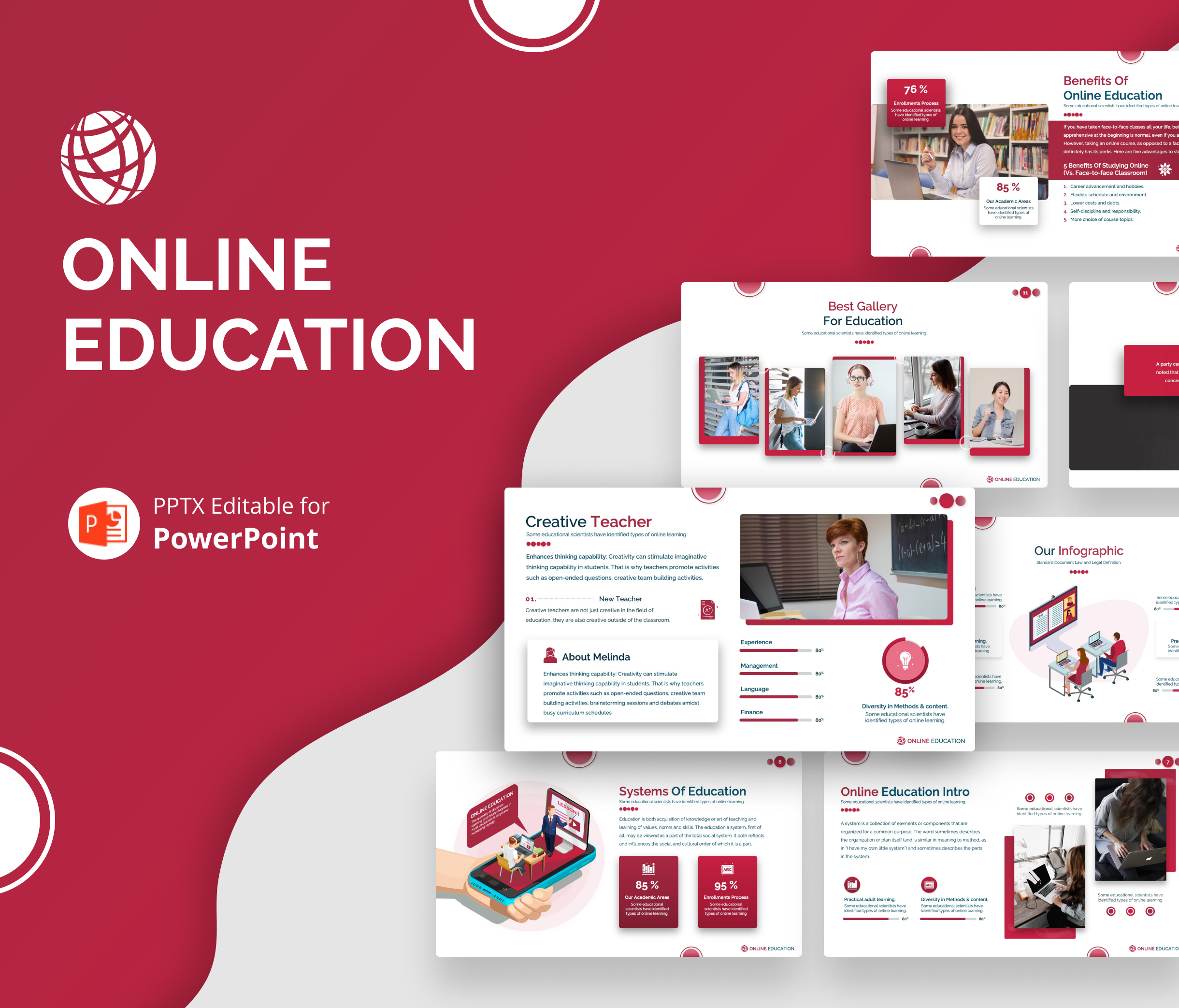 Online Education PPT Presentation Design