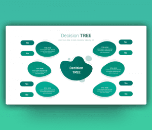 Yes/No Decision Tree Diagram Template for PowerPoint