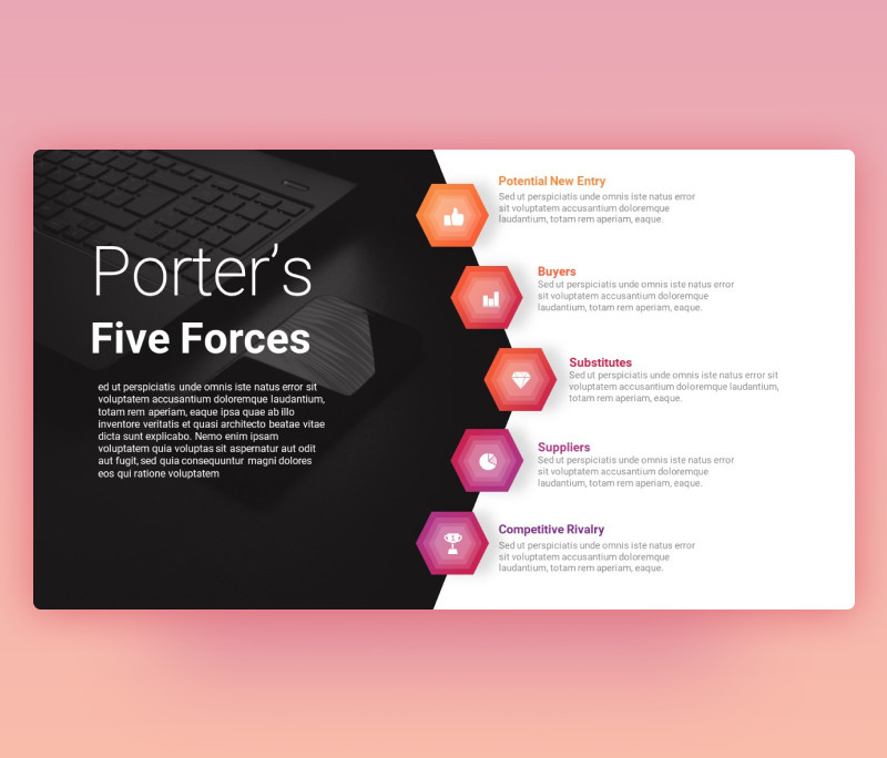Modern Porter's Five Forces PowerPoint template