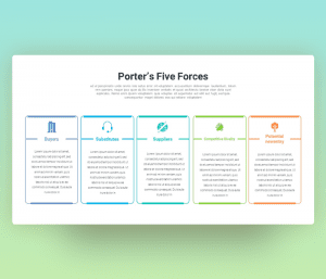Porter's Five Forces Analysis PowerPoint Template