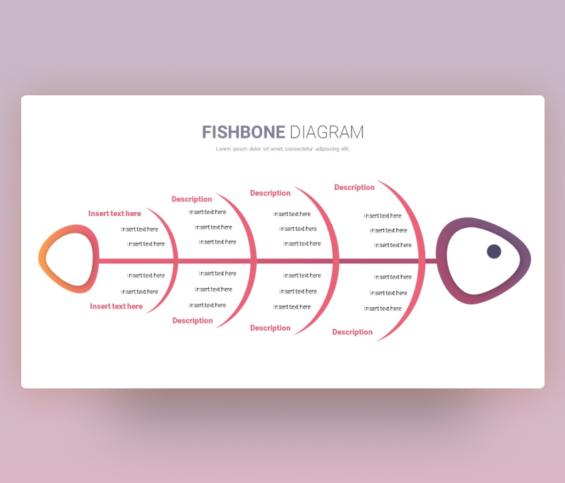 Minimal Fishbone Diagram Template for PowerPoint