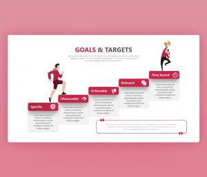 Goals and Targets (Steps Towards Success) PPT template