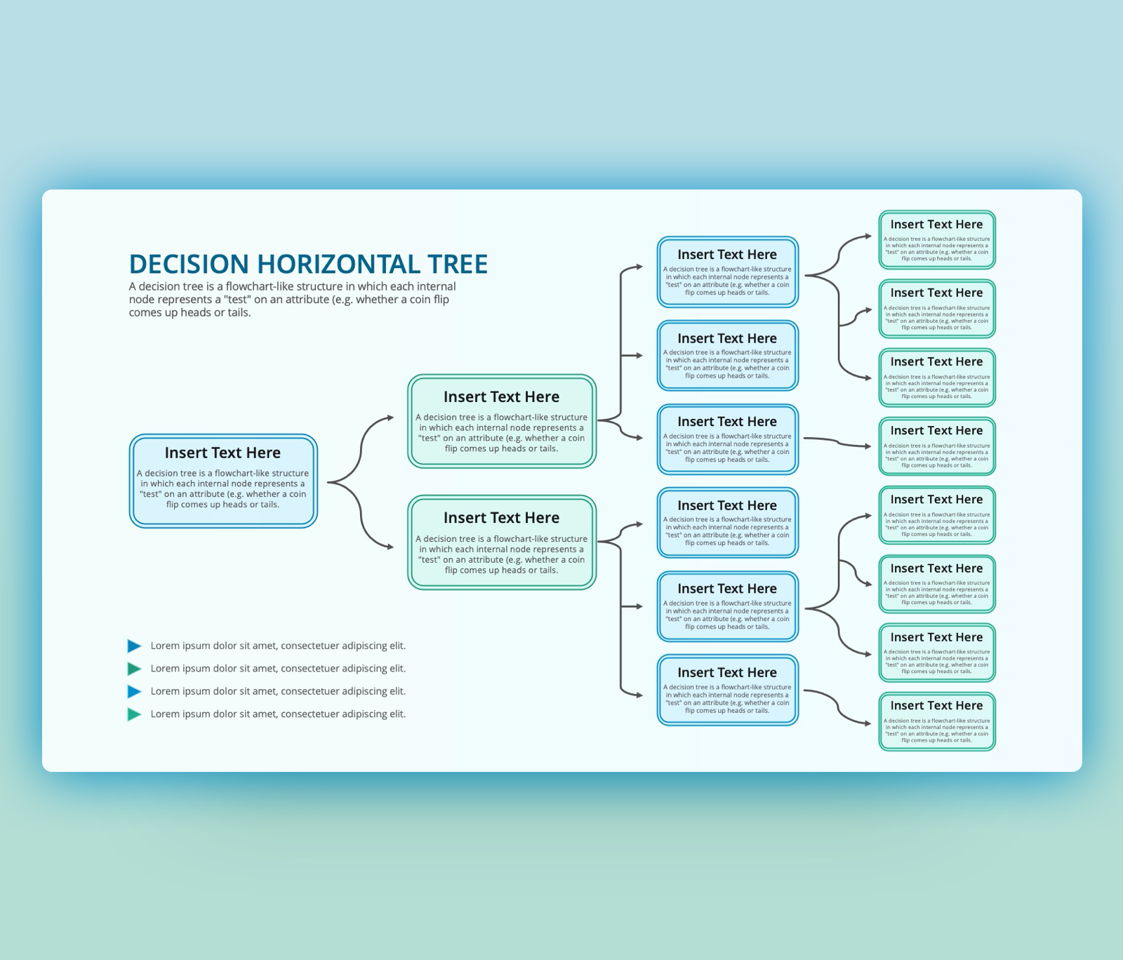 Free Horizontal Decision Tree for PowerPoint
