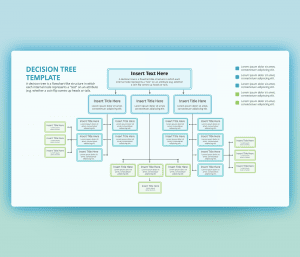 Decision Tree flow chart PowerPoint Template