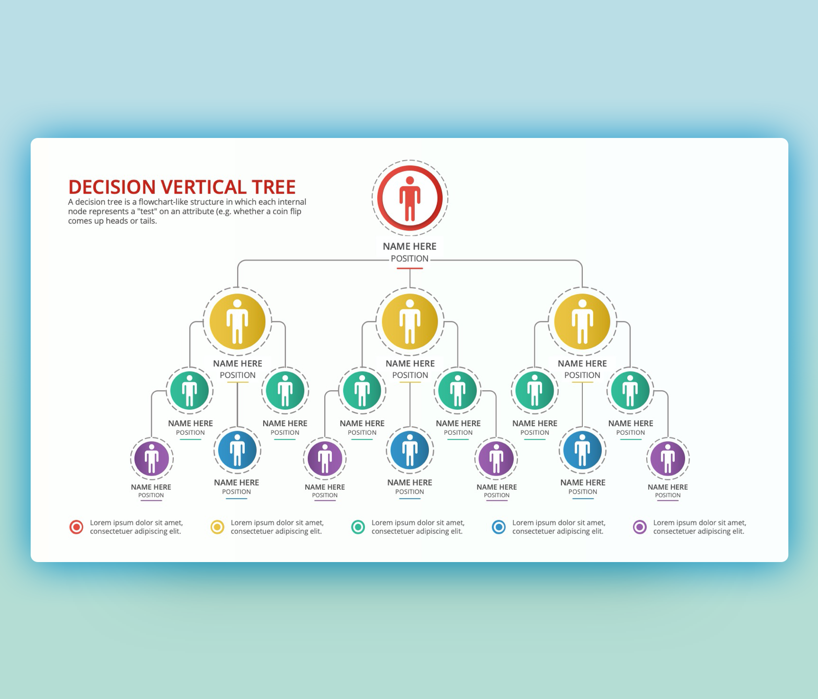 Vertical Decision Tree PowerPoint PPT Template