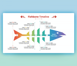 Fishbone Timeline Diagram PPT