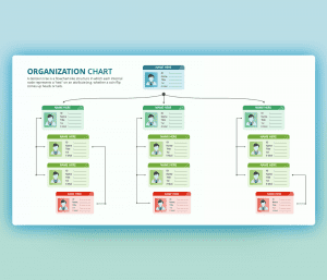 Organization Team Chart PowerPoint Template PPT