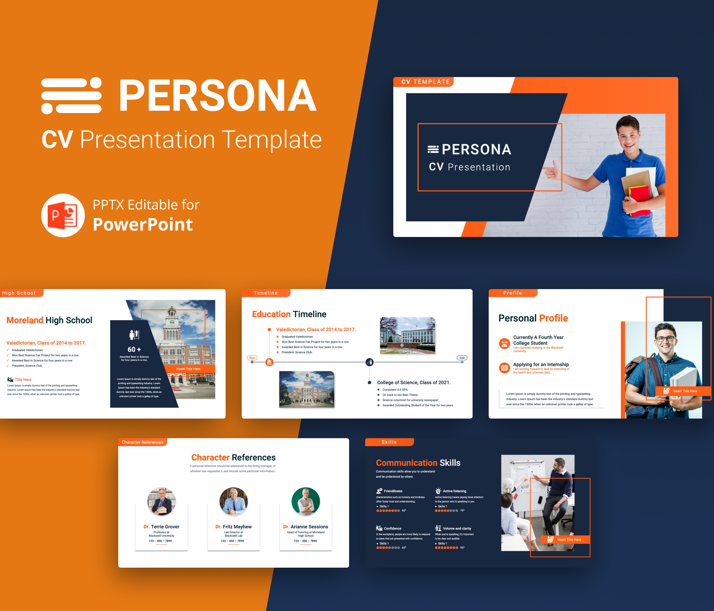 PERSONA – Professional CV PowerPoint Template
