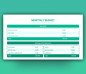 Monthly Project Budget PPT