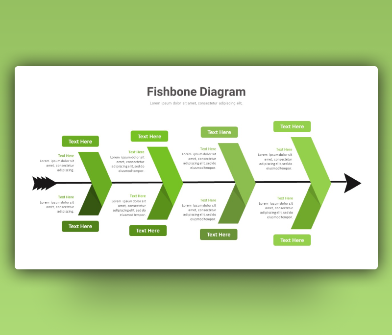 Fishbone (Ishikawa) Diagram PowerPoint Template