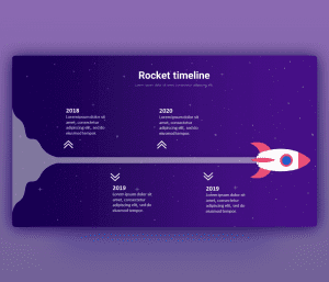 Free Animated Rocket Timeline PowerPoint Template