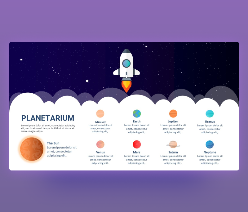 Animated Planetarium PowerPoint Template | Free PPT
