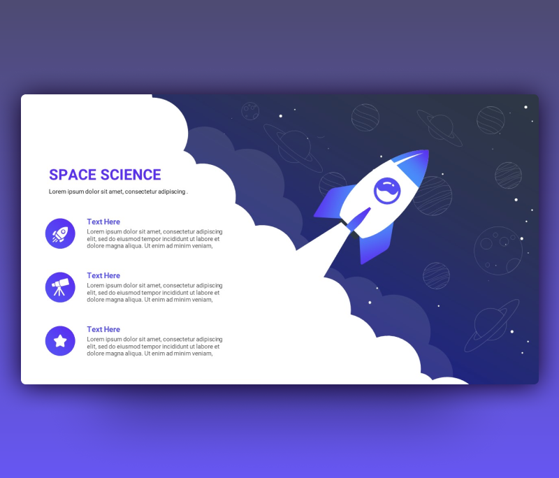 Creative Space Science PPT Template