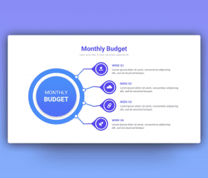 Monthly Project Budget PowerPoint Template