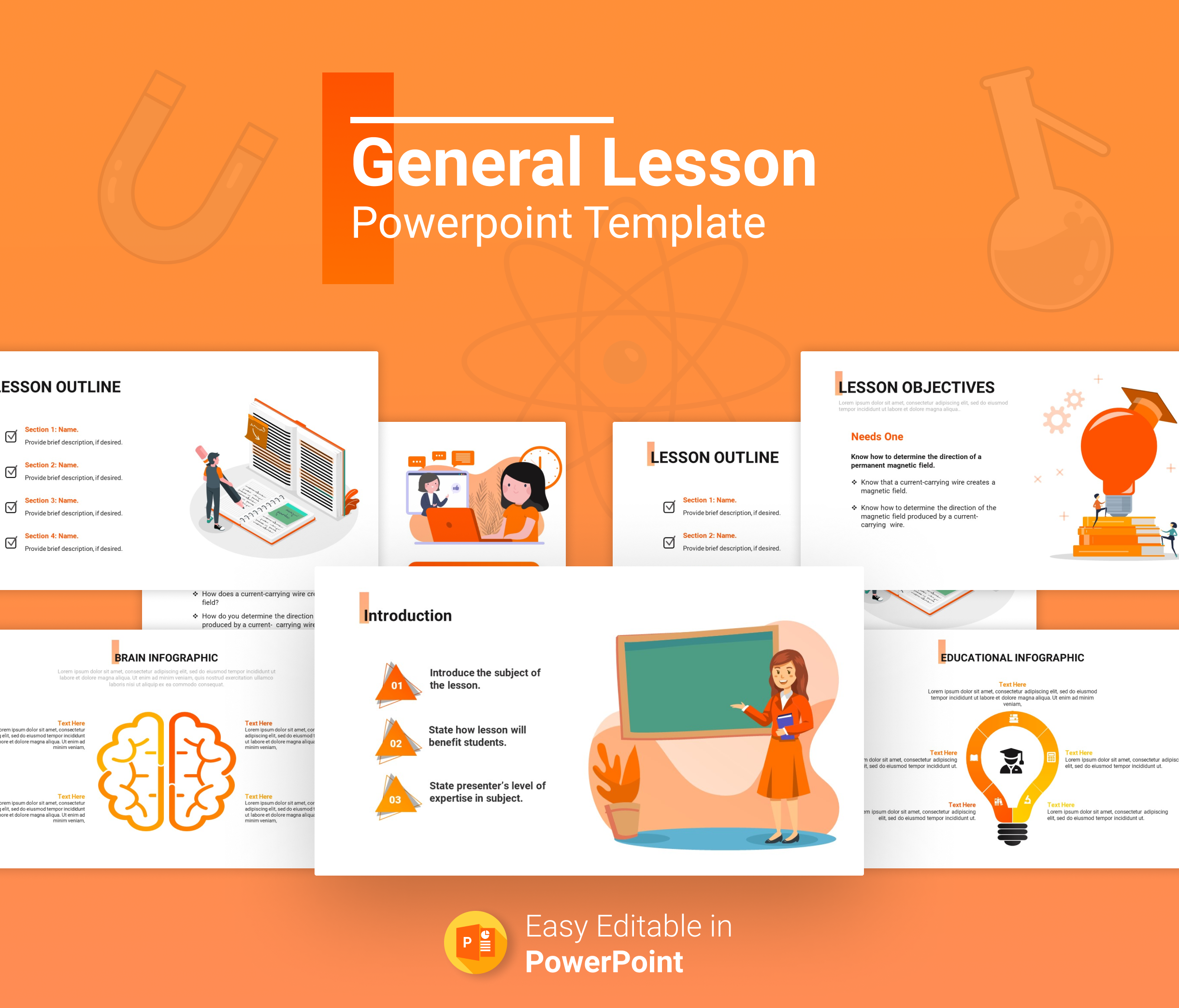 General Lesson Plan PowerPoint Presentation for teachers & students