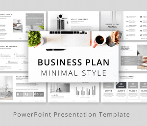 Minimal Style Business Plan PowerPoint Presentation
