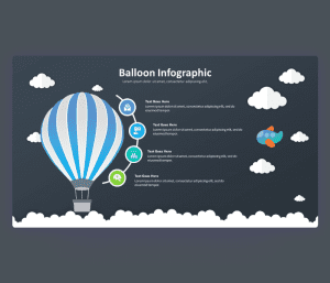 Balloon Infographic PowerPoint Template with Cloud Shapes