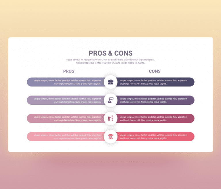 Pros and Cons PPT Template free download