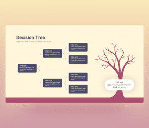 Free Decision Tree Flow Chart PowerPoint Template