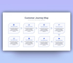 8 Stages Customer Journey Map PowerPoint Template