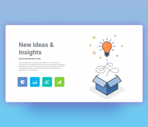 New Ideas and Insights PPT Template Free
