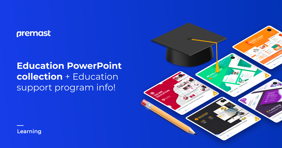 "Best Education PowerPoint Templates ""EDU Support Program is included"""