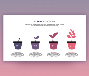 Market Growth Infographic PPT Template