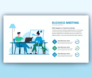 Business Meeting PowerPoint Template Free Download