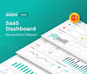 Dashi SaaS | SaaS Dashboard Report Presentation Template PPT