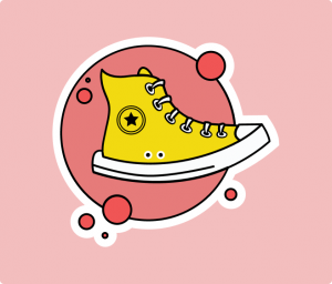 Converse flat sticker Illustration