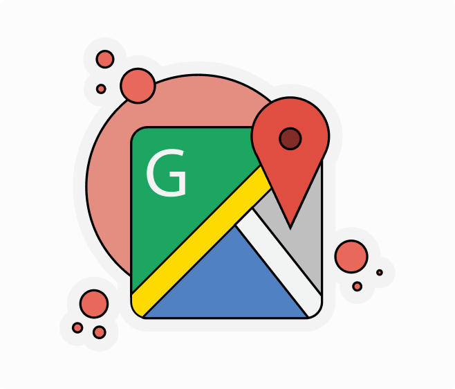 google maps flat sticker