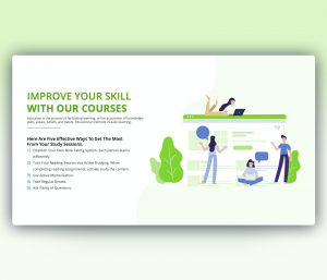 Improve Your Skill With Our Courses – Template for PowerPoint