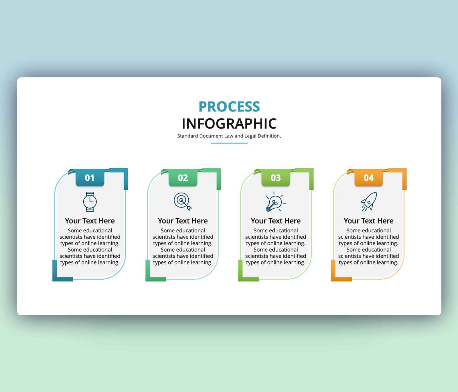 4 steps Process Infographic PPT Template