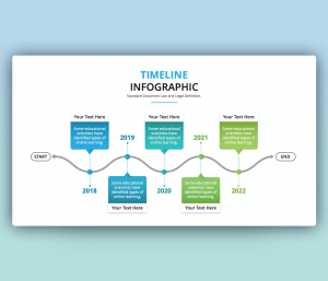Yearly Timeline Infographic Diagram for PowerPoint