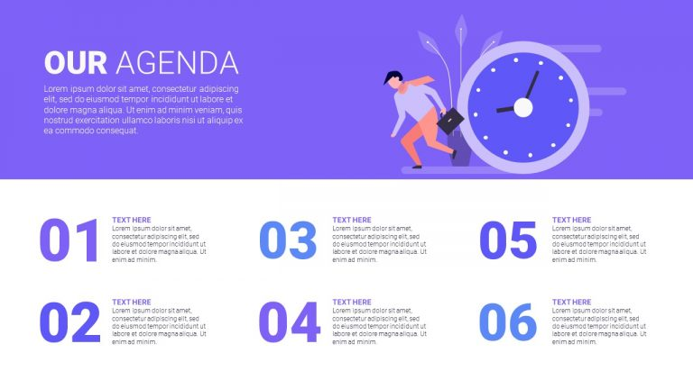 Business Agenda Template for PowerPoint – PPT