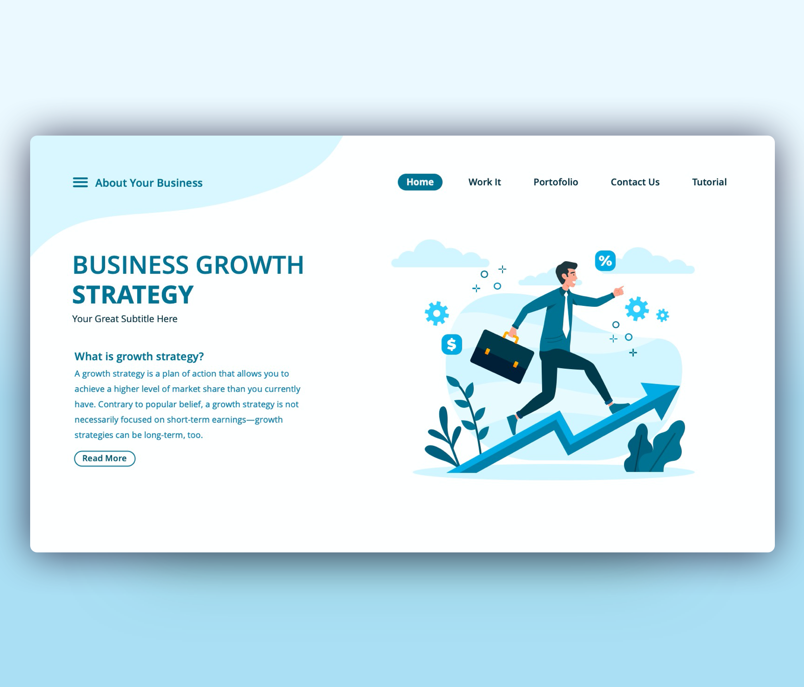 Business Growth Strategy PPT Slide Template