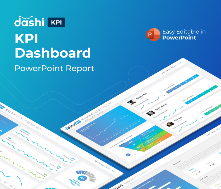 Dashi KPI – Dashboard Report PowerPoint Presentation