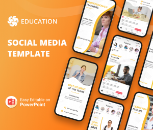 Education Social Media PowerPoint Templates