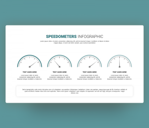 Speedometer Infographic PowerPoint Template