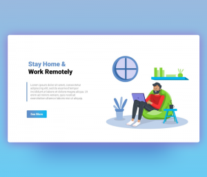 Stay Home and Work Remotely Template for PowerPoint