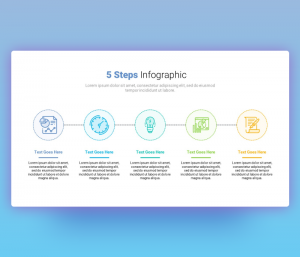 5 Steps Process Infographic Template for Presentation