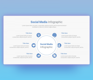6 Step Social Media Circular Infographic PPT Template