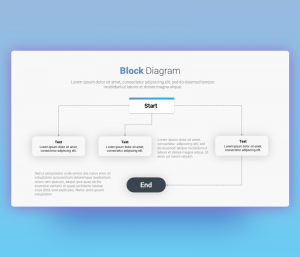 Block Chart Diagram PowerPoint Template