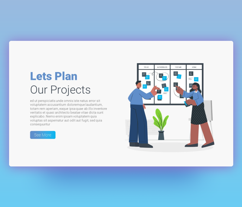Lets Plan our Project – Project Plan PowerPoint Template