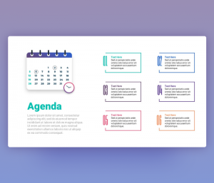 Agenda PowerPoint Slide Template PPT