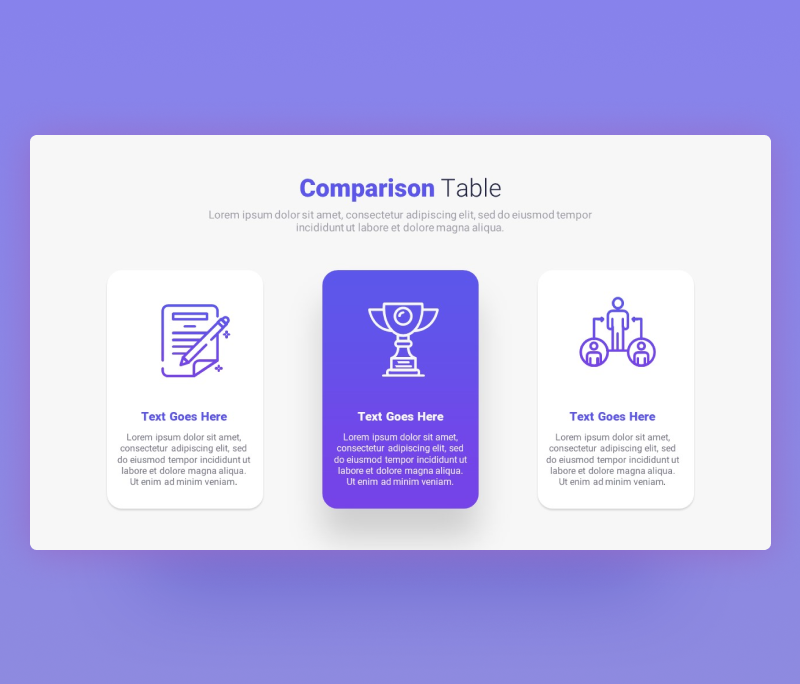 Simple Comparison Table PowerPoint Template